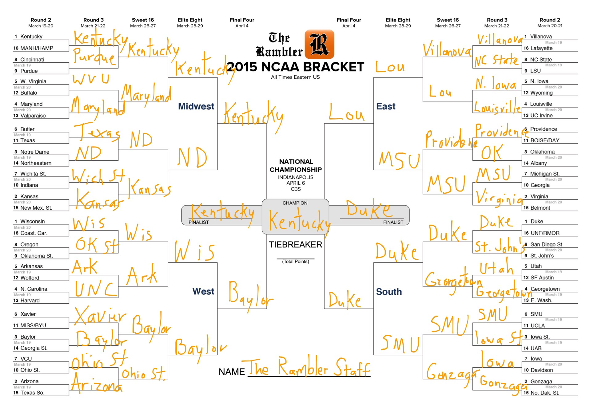 2015 march madness filled bracket