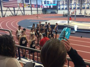 The relay team is getting lined up to race.