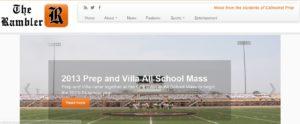 Screenshot of TheRamblerNews.com from October 5, 2013