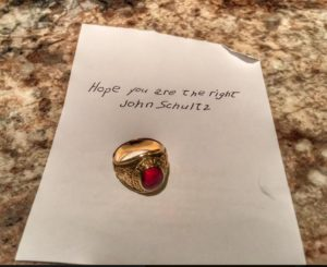 The mysterious note accompanying the ring